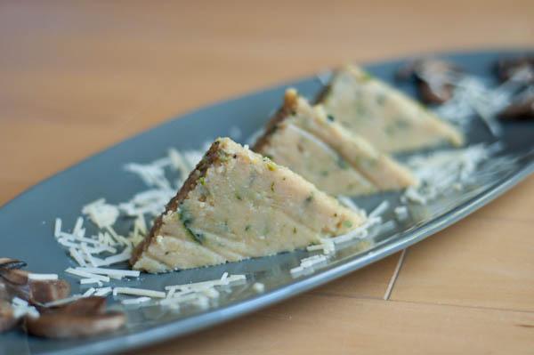 Cheesy Zucchini Polenta Cakes