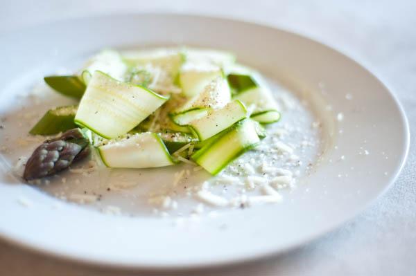 Asparagus zucchini carpaccio salad