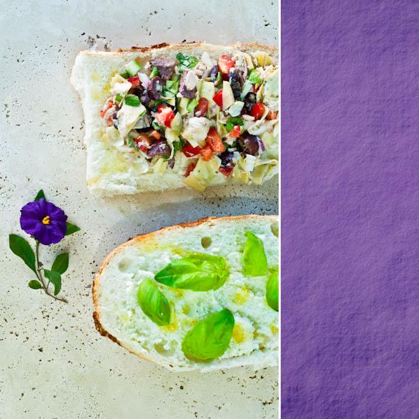 Vegan Nicoise sandwich