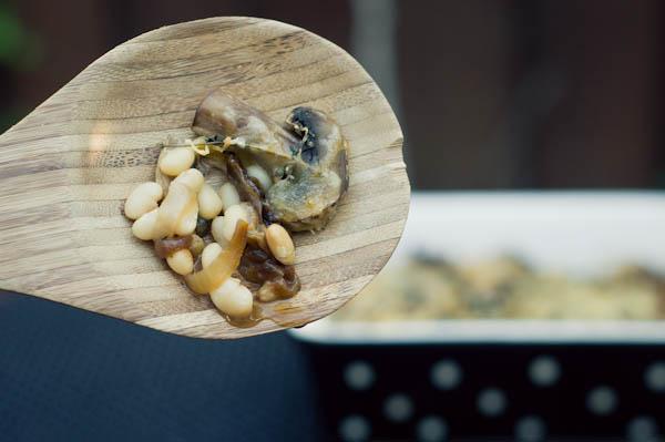 Caramelized Onions and Mushroom bake